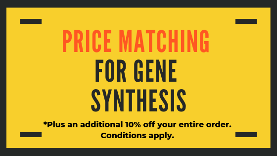 gene synthesis price matching